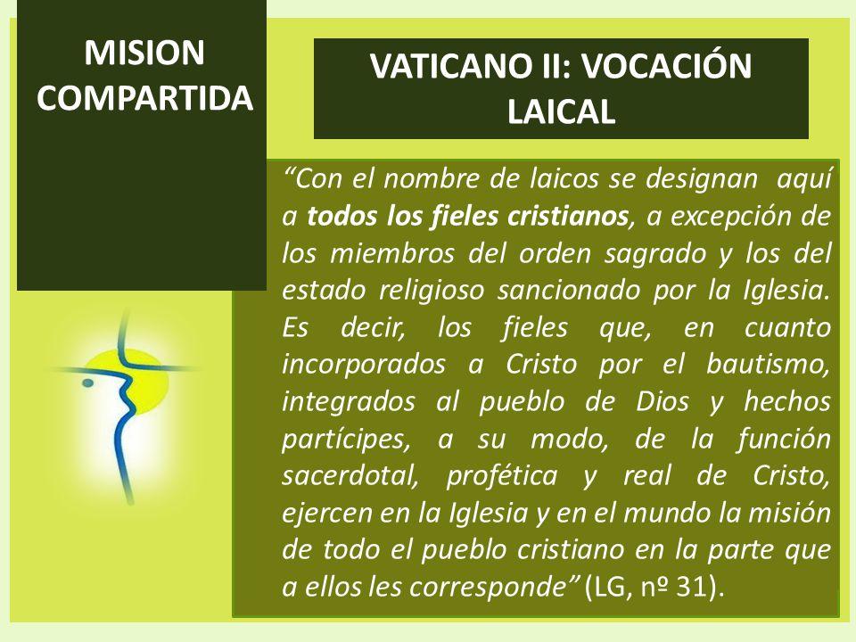 VATICANO II: VOCACIÓN LAICAL