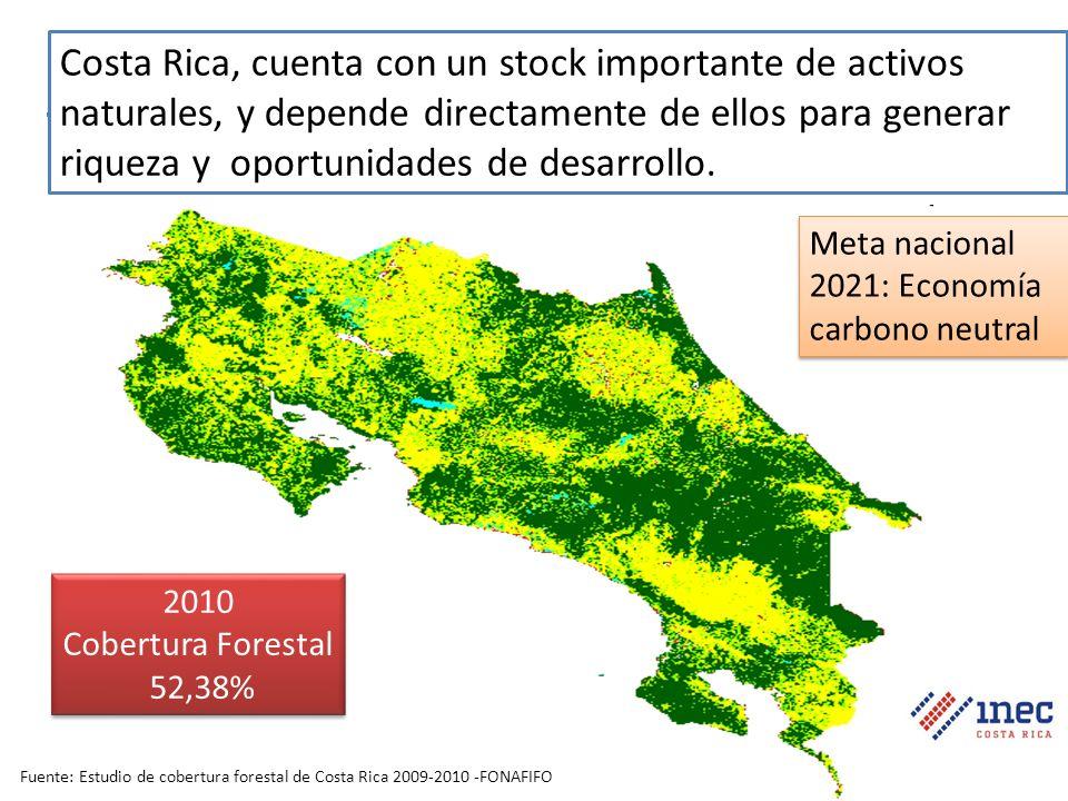 Costa Rica, cuenta con un stock importante de activos naturales, y depende directamente de ellos para generar riqueza y oportunidades de desarrollo.