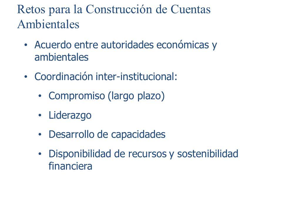 Retos para la Construcción de Cuentas Ambientales