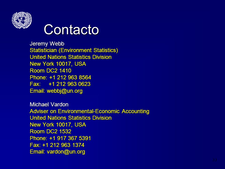 Contacto Jeremy Webb Statistician (Environment Statistics)