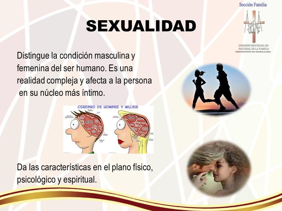 SEXUALIDAD Distingue la condición masculina y