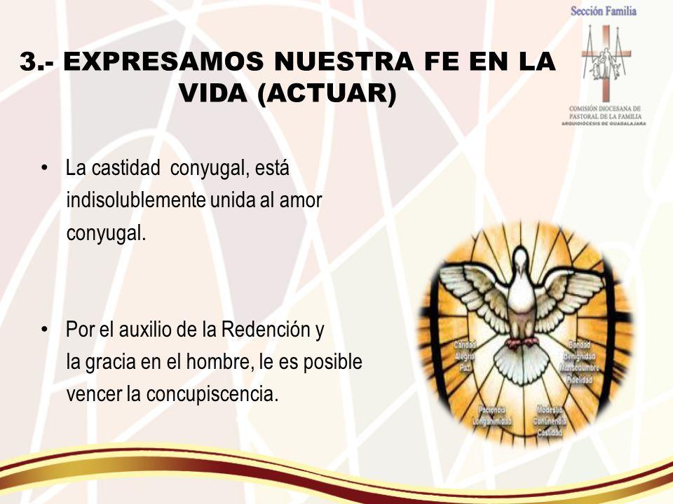 3.- EXPRESAMOS NUESTRA FE EN LA VIDA (ACTUAR)