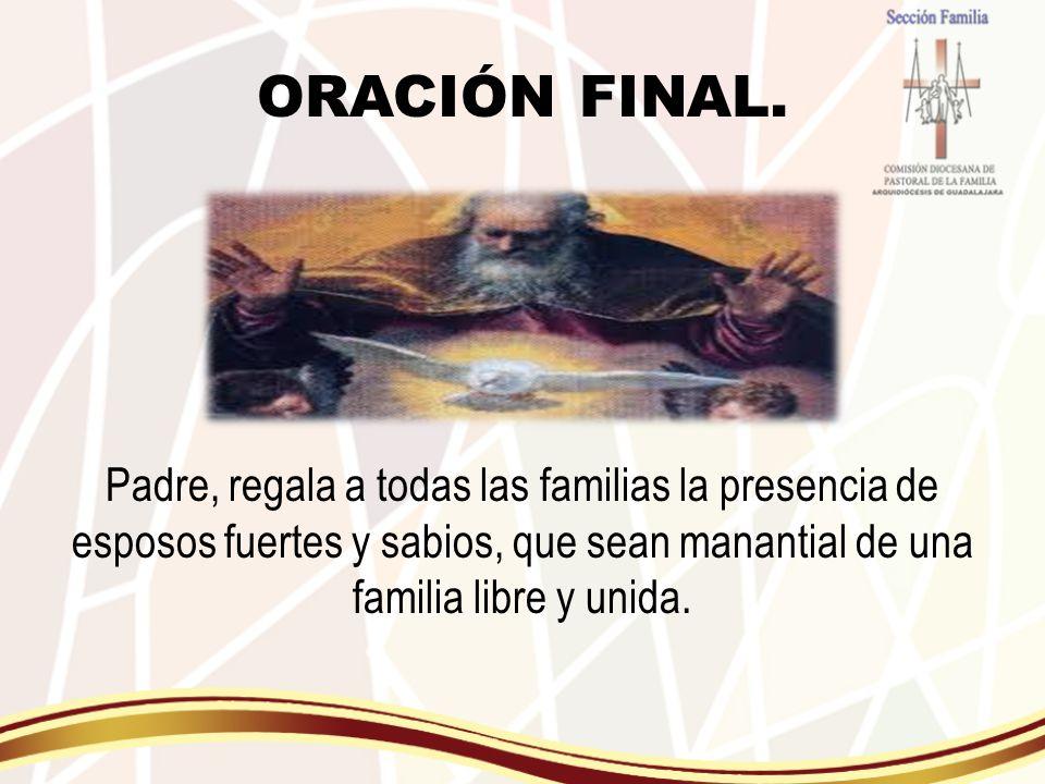 ORACIÓN FINAL.