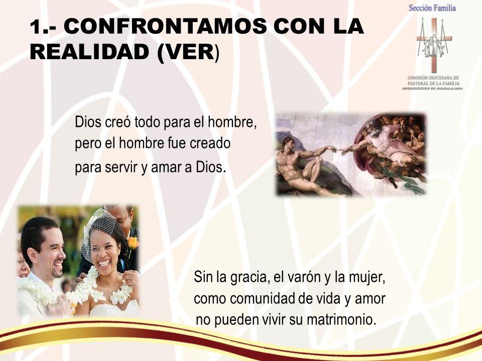 1.- CONFRONTAMOS CON LA REALIDAD (VER)