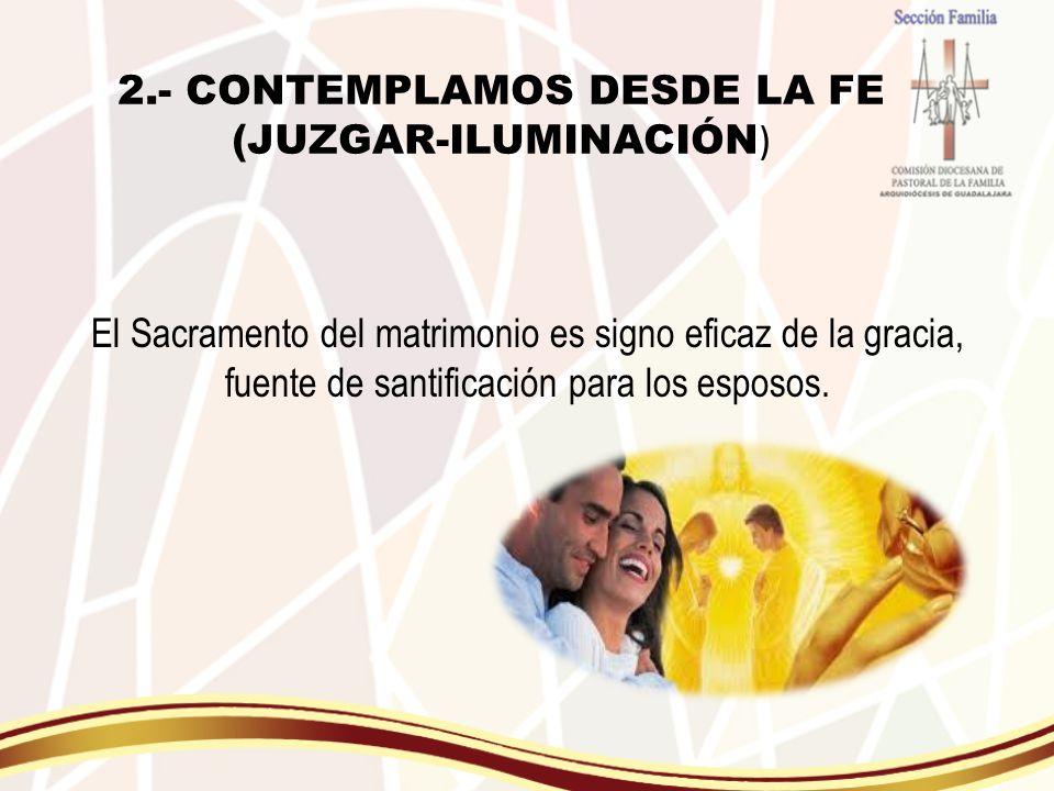 2.- CONTEMPLAMOS DESDE LA FE (JUZGAR-ILUMINACIÓN)