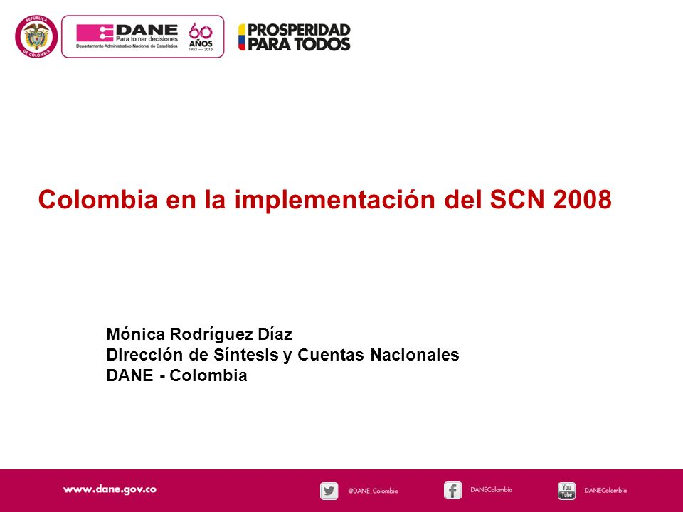 Colombia en la implementación del SCN 2008