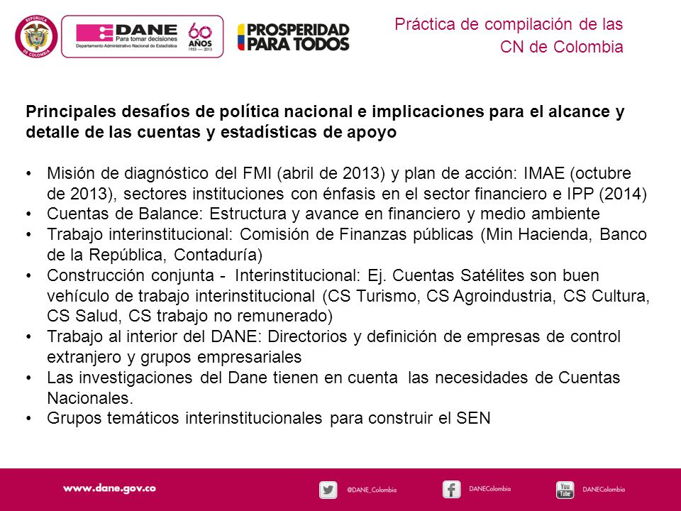 Práctica de compilación de las CN de Colombia
