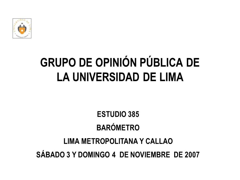 GRUPO DE OPINIÓN PÚBLICA DE LA UNIVERSIDAD DE LIMA