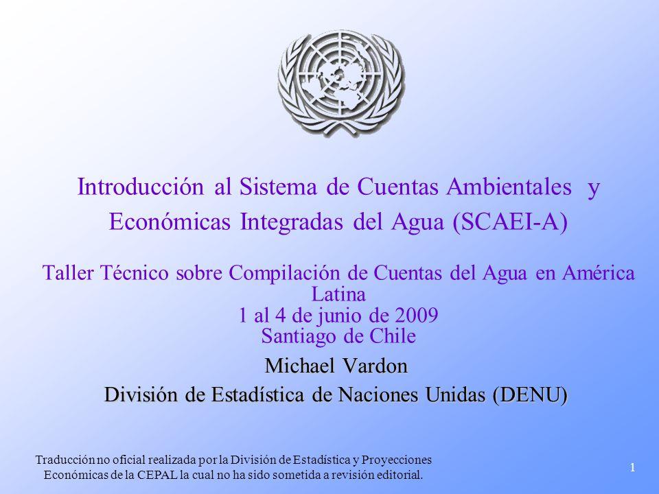 Michael Vardon División de Estadística de Naciones Unidas (DENU)