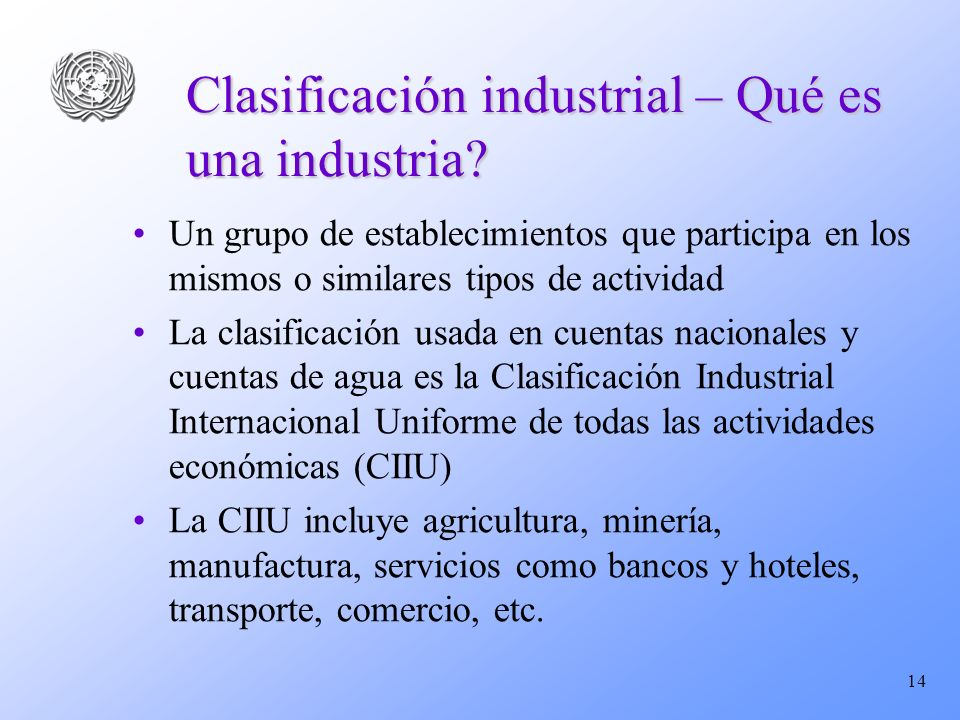 Clasificación industrial – Qué es una industria