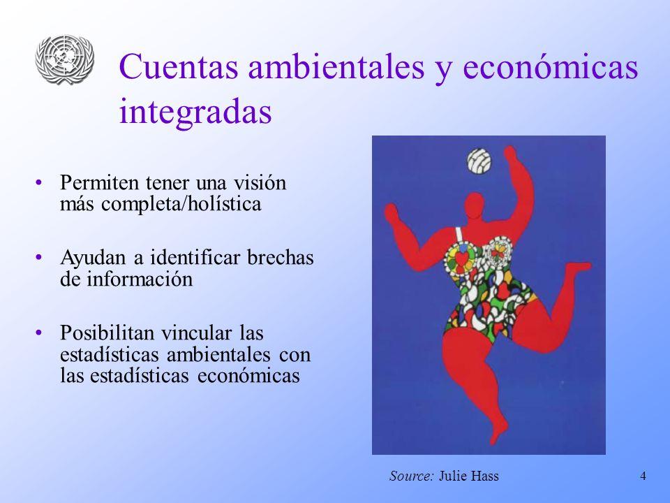Cuentas ambientales y económicas integradas