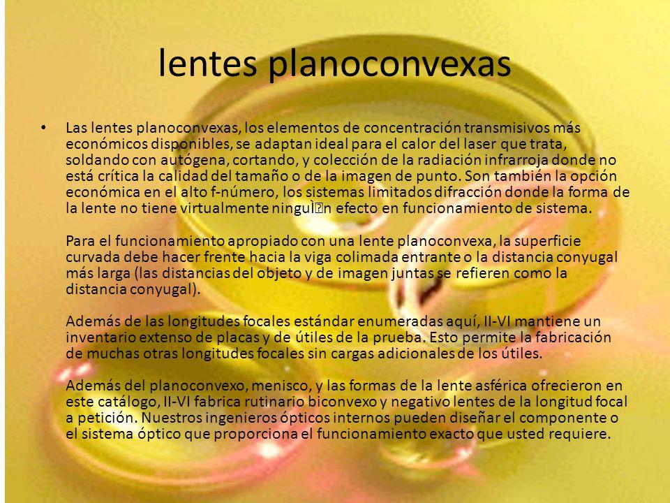 lentes planoconvexas