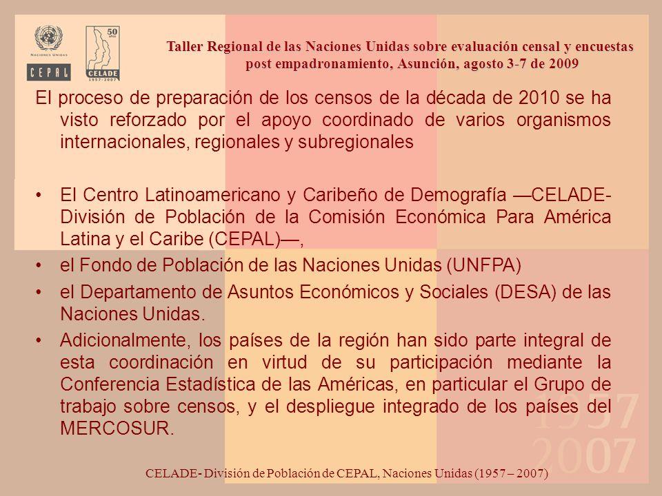 CELADE- División de Población de CEPAL, Naciones Unidas (1957 – 2007)
