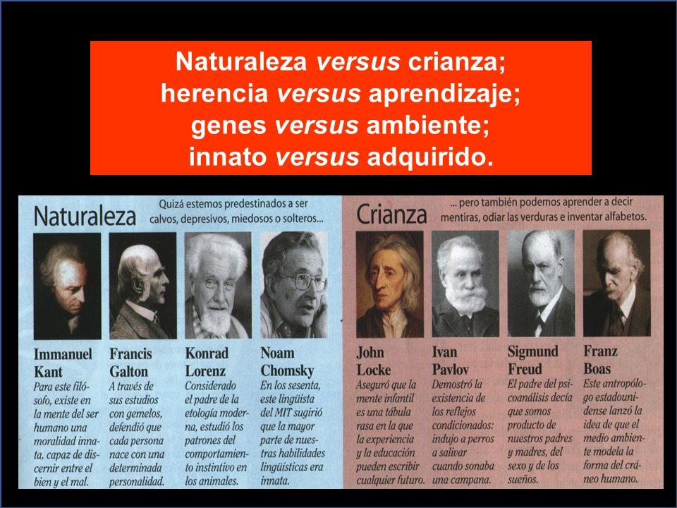 Naturaleza versus crianza; herencia versus aprendizaje;