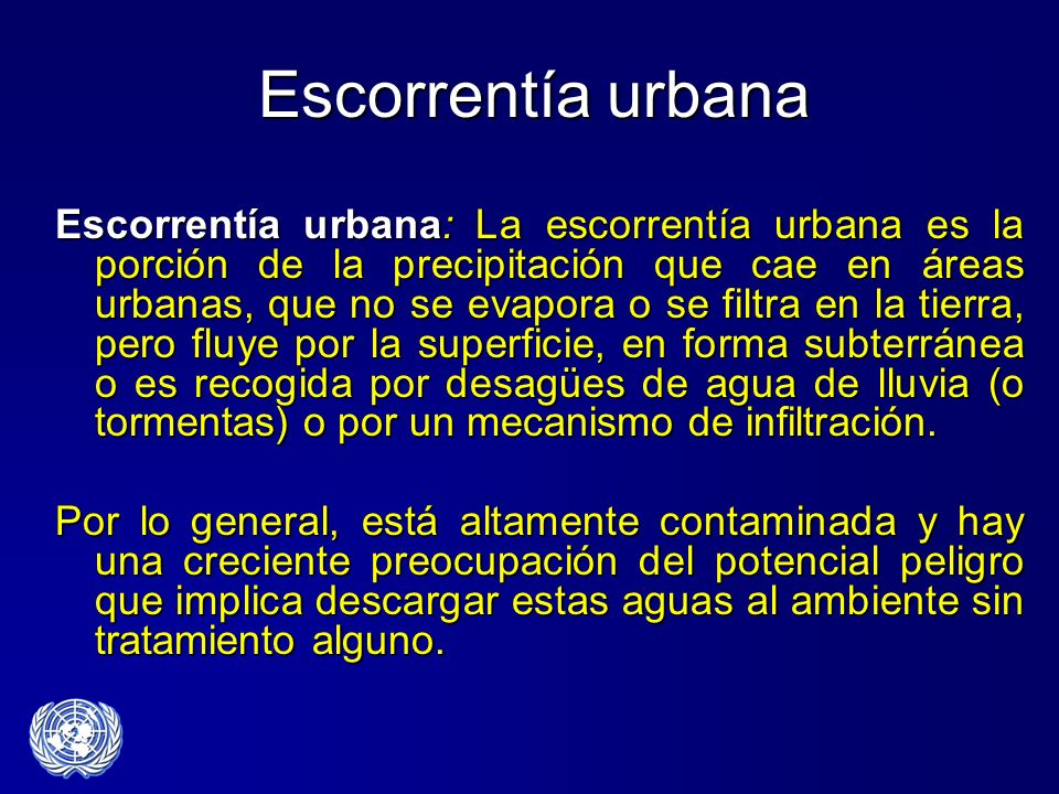 Escorrentía urbana
