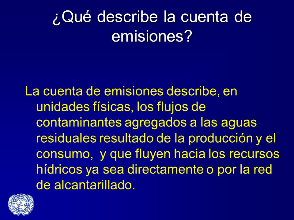 ¿Qué describe la cuenta de emisiones