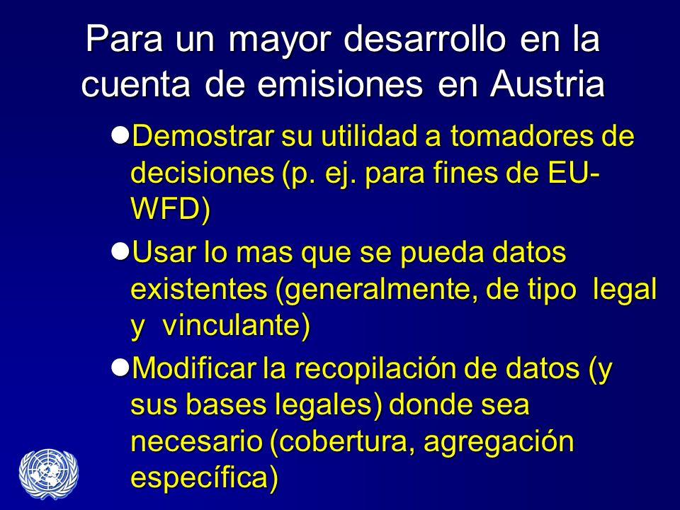 Para un mayor desarrollo en la cuenta de emisiones en Austria