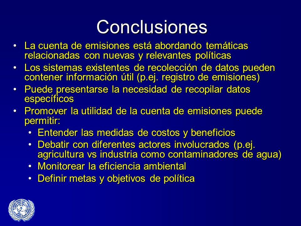 ConclusionesLa cuenta de emisiones está abordando temáticas relacionadas con nuevas y relevantes políticas.