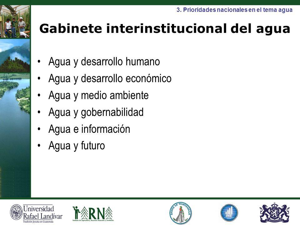 Gabinete interinstitucional del agua