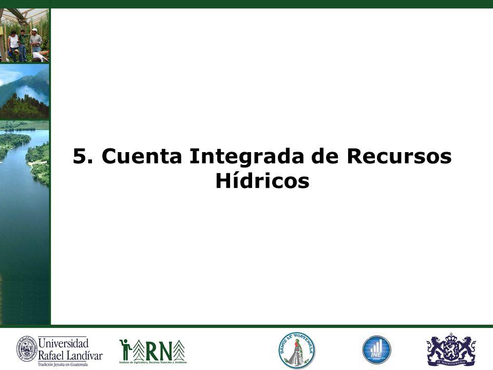 5. Cuenta Integrada de Recursos Hídricos