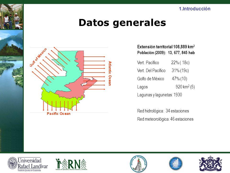 Datos generales Población (2009): 13, 677, 845 hab 1.Introducción