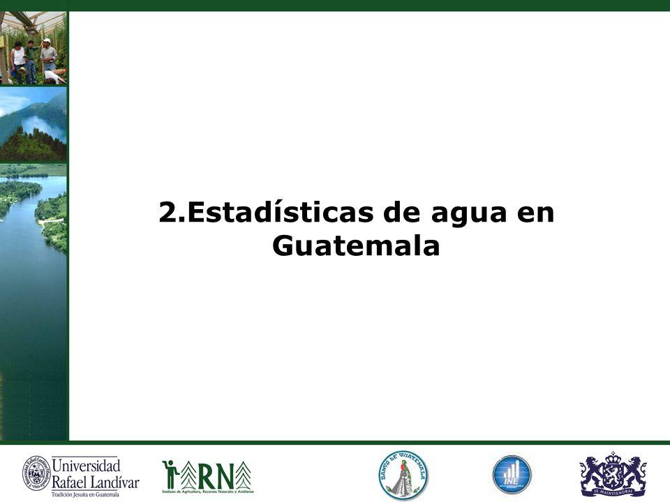 2.Estadísticas de agua en Guatemala