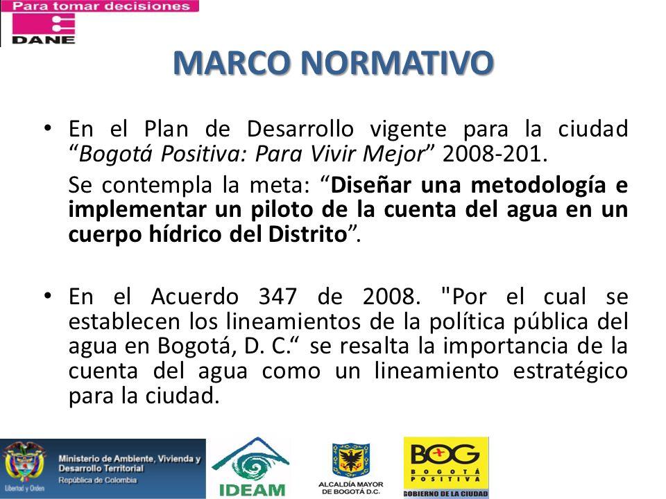 MARCO NORMATIVO En el Plan de Desarrollo vigente para la ciudad Bogotá Positiva: Para Vivir Mejor 2008-201.