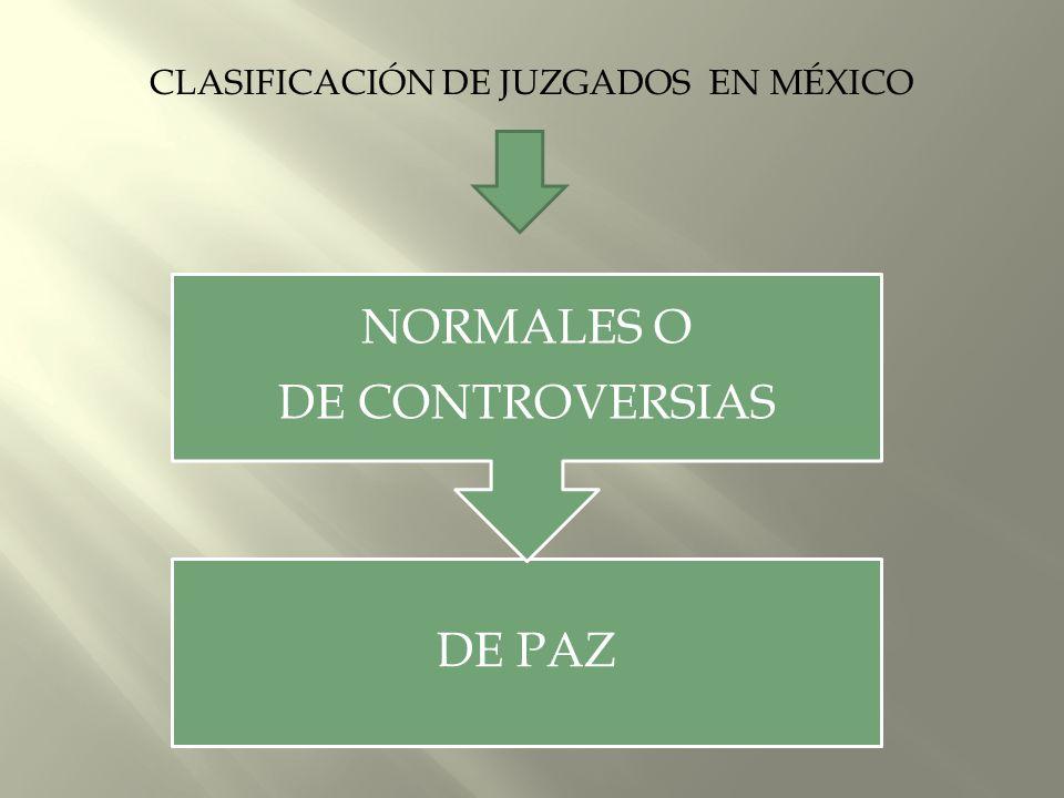 CLASIFICACIÓN DE JUZGADOS EN MÉXICO