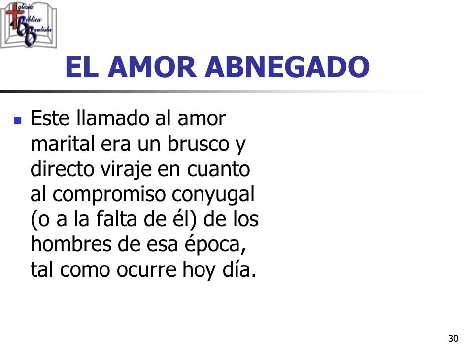 EL AMOR ABNEGADO