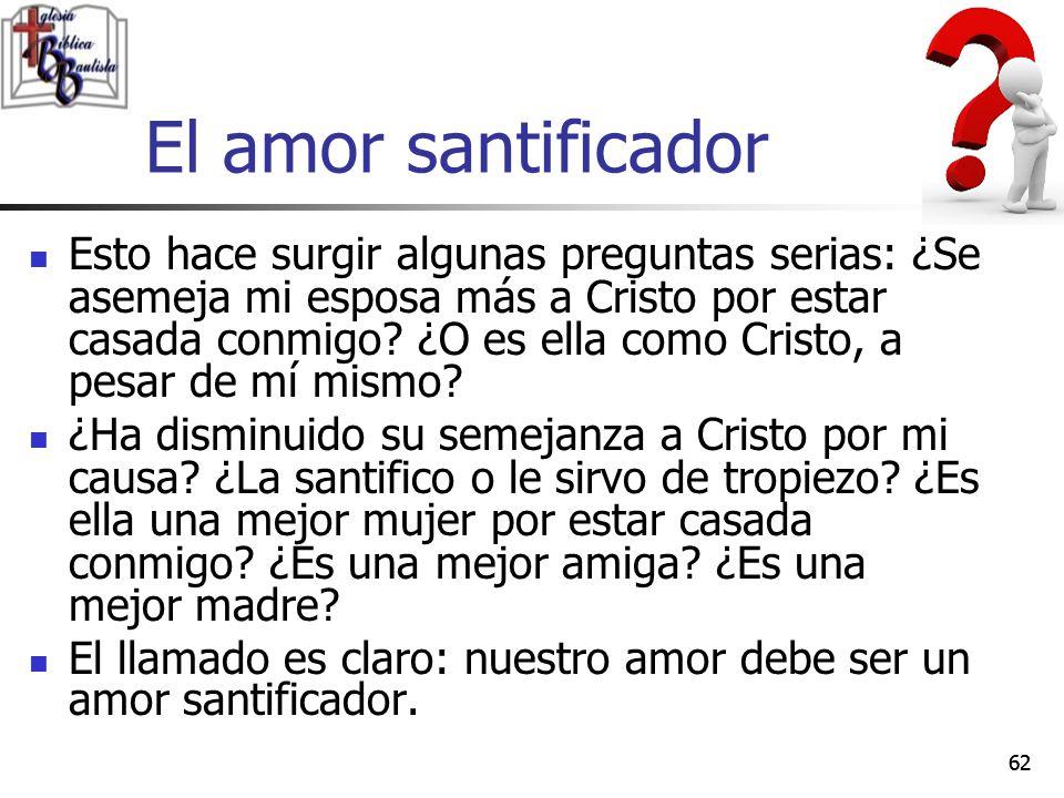 El amor santificador