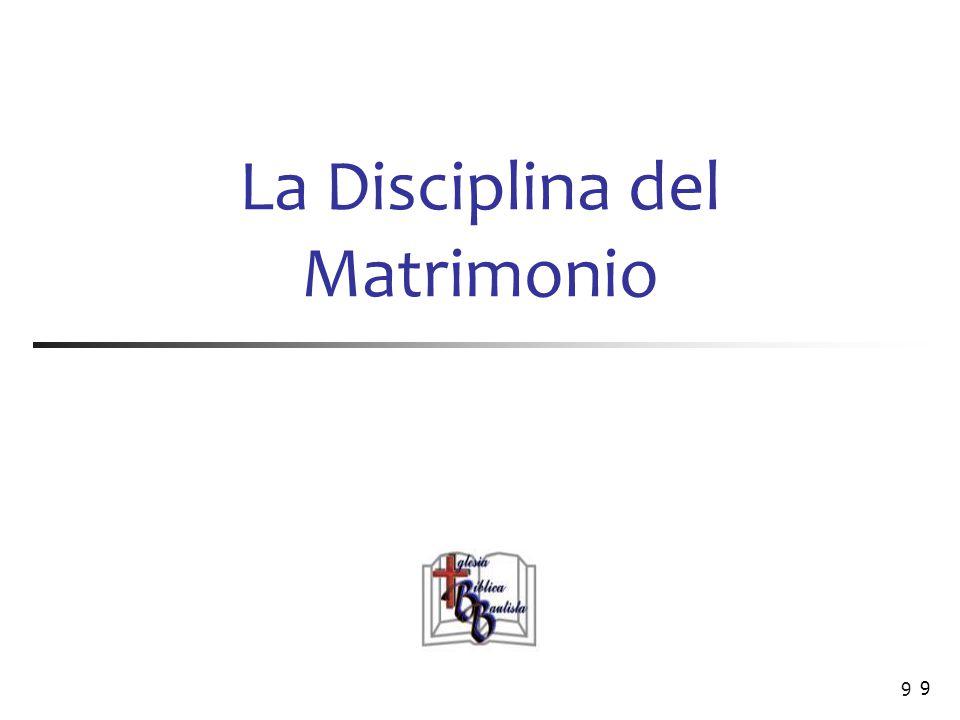 La Disciplina del Matrimonio