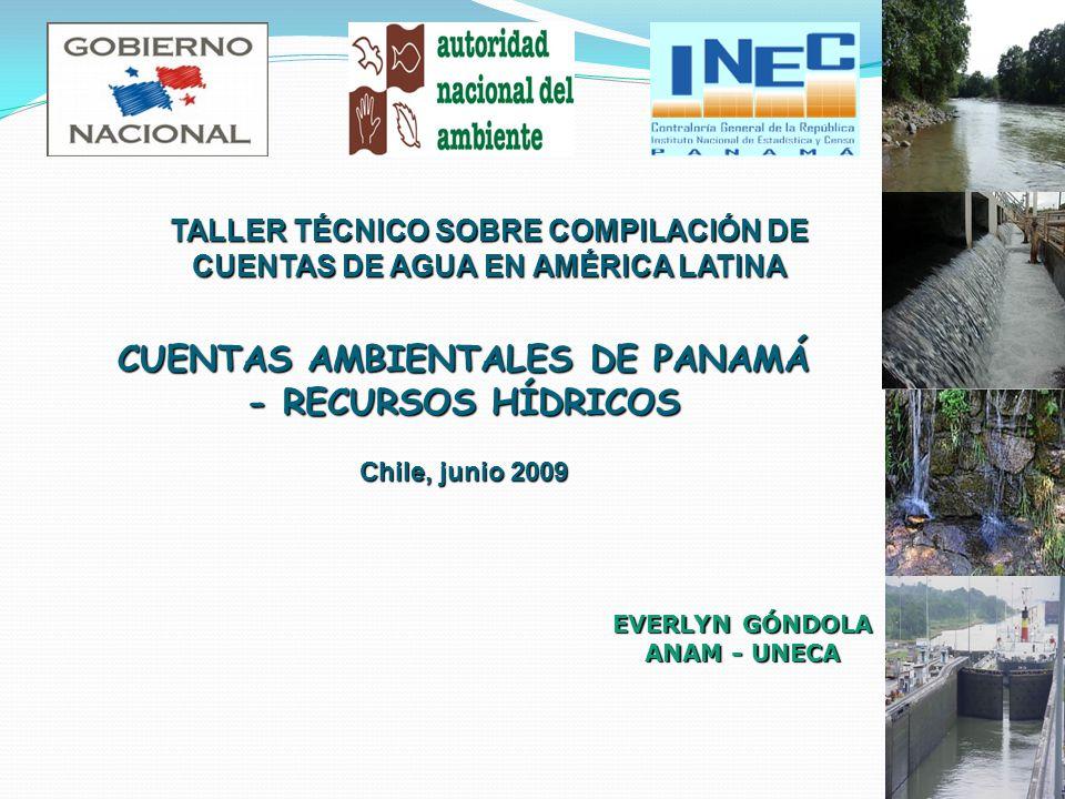 CUENTAS AMBIENTALES DE PANAMÁ - RECURSOS HÍDRICOS