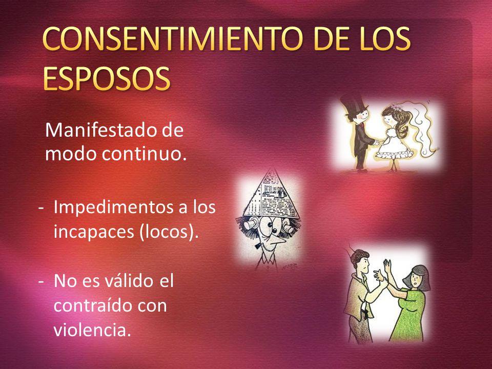 CONSENTIMIENTO DE LOS ESPOSOS