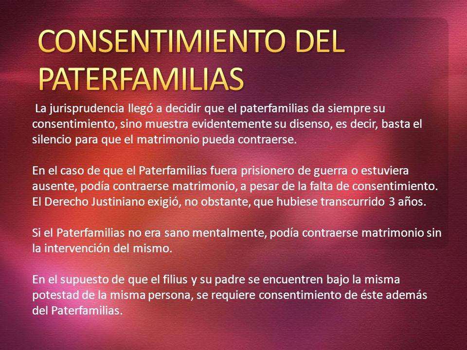 CONSENTIMIENTO DEL PATERFAMILIAS