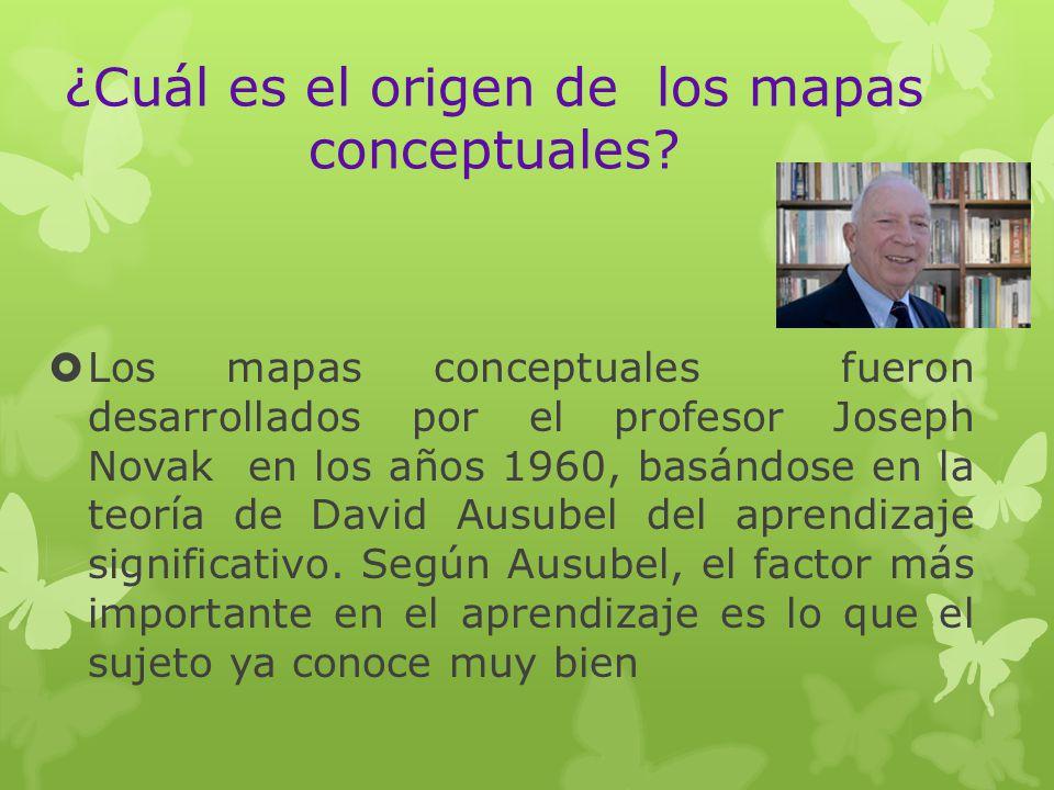 ¿Cuál es el origen de los mapas conceptuales
