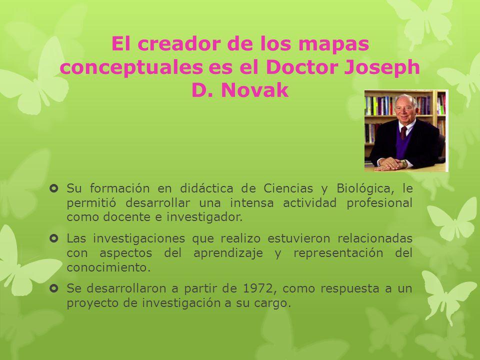 El creador de los mapas conceptuales es el Doctor Joseph D. Novak