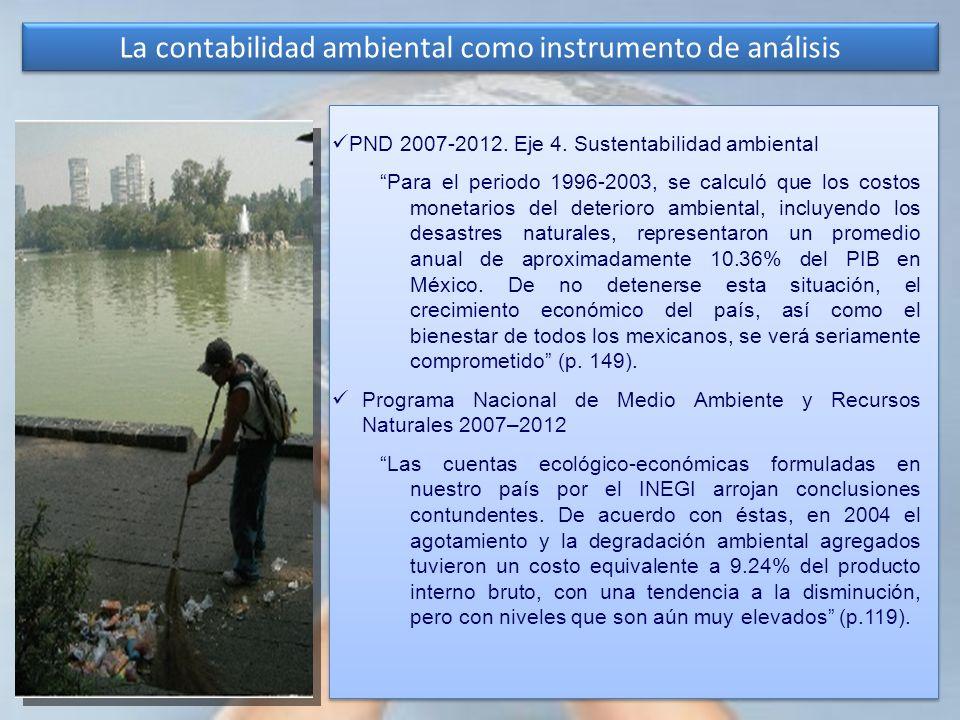 La contabilidad ambiental como instrumento de análisis