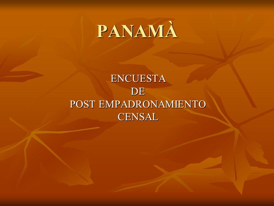 ENCUESTA DE POST EMPADRONAMIENTO CENSAL