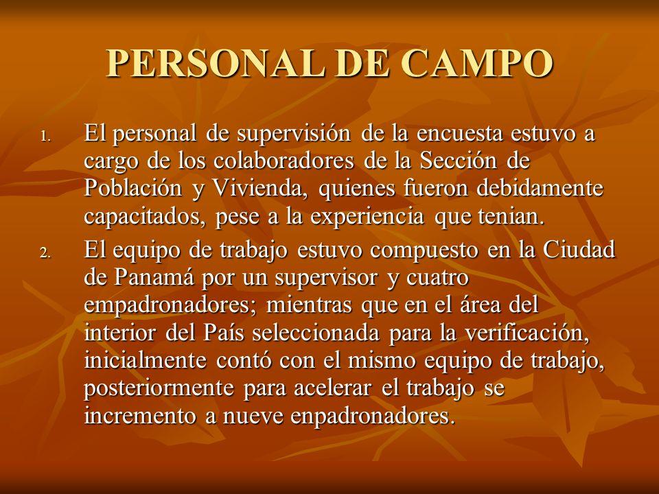 PERSONAL DE CAMPO