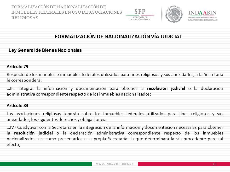 FORMALIZACIÓN DE NACIONALIZACIÓN VÍA JUDICIAL