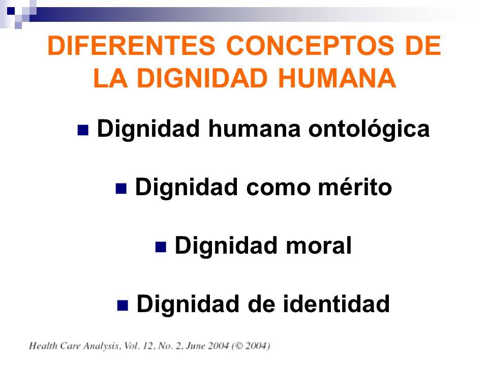 DIFERENTES CONCEPTOS DE LA DIGNIDAD HUMANA