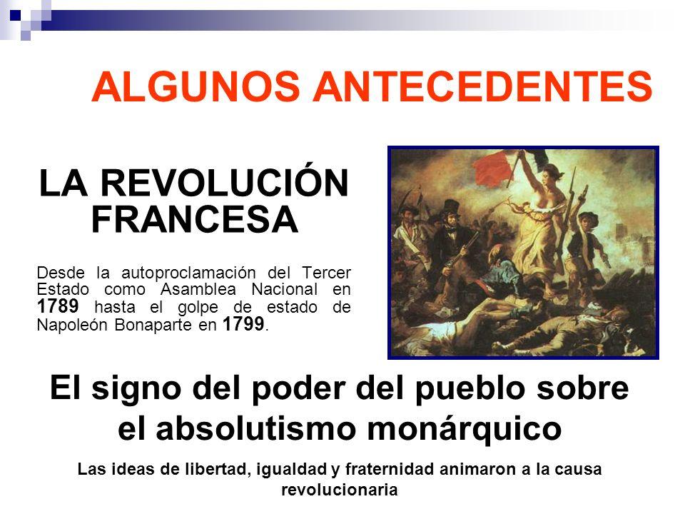 ALGUNOS ANTECEDENTES LA REVOLUCIÓN FRANCESA