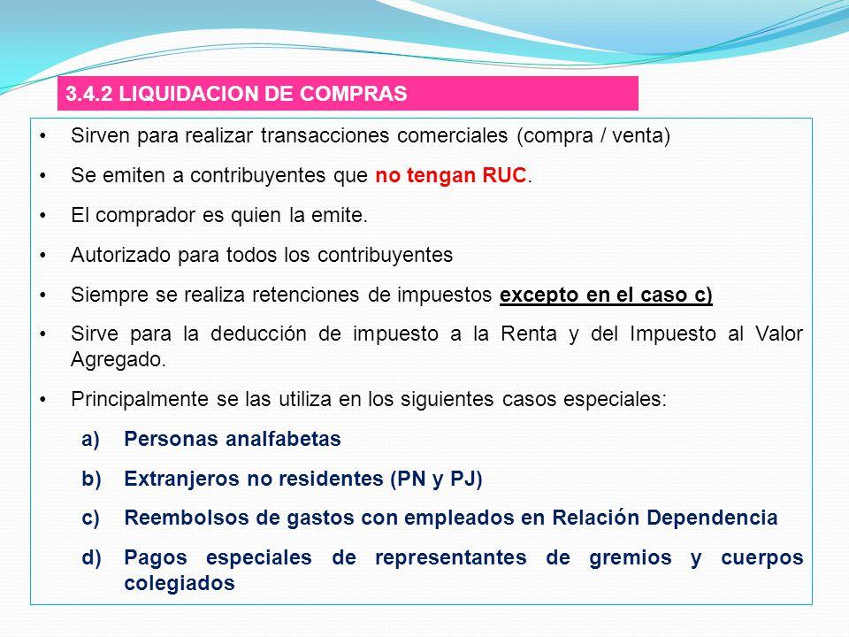3.4.2 LIQUIDACION DE COMPRAS