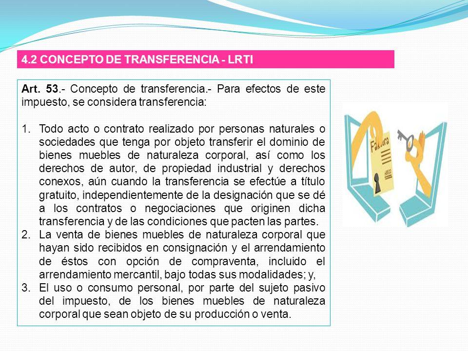 4.2 CONCEPTO DE TRANSFERENCIA - LRTI