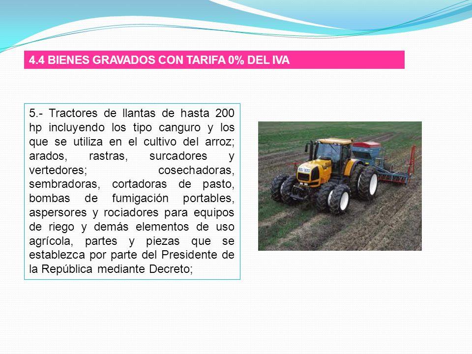 4.4 BIENES GRAVADOS CON TARIFA 0% DEL IVA
