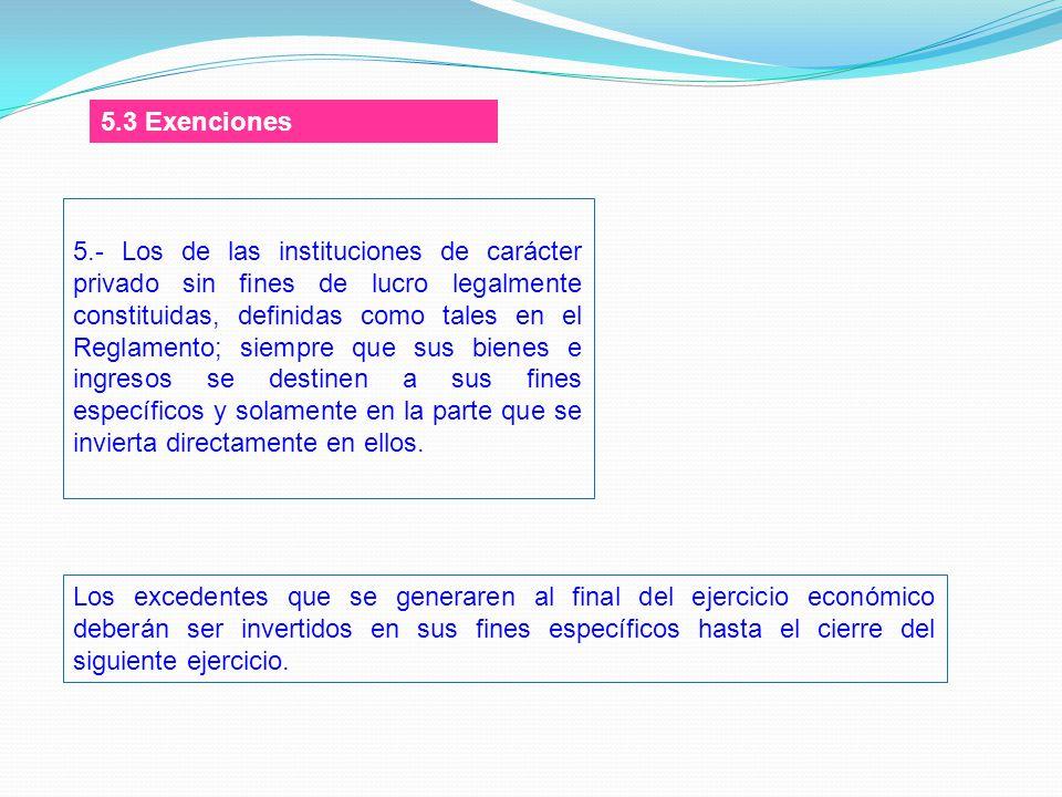 5.3 Exenciones