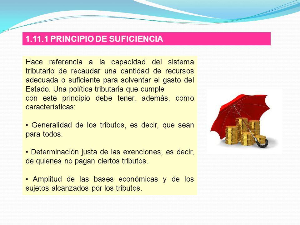 1.11.1 PRINCIPIO DE SUFICIENCIA