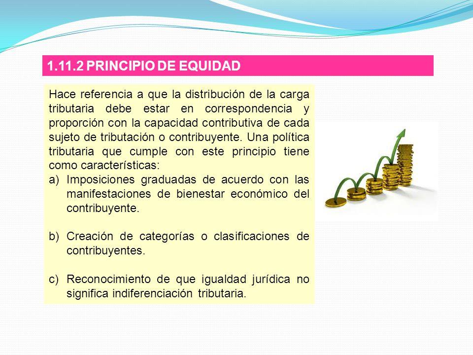 1.11.2 PRINCIPIO DE EQUIDAD