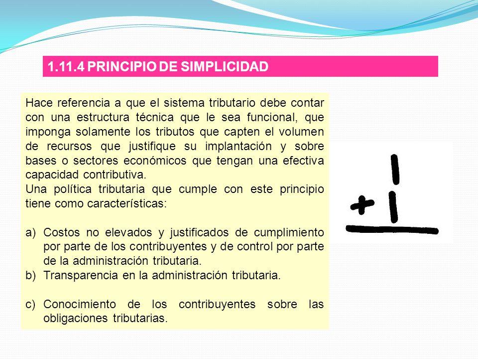 1.11.4 PRINCIPIO DE SIMPLICIDAD