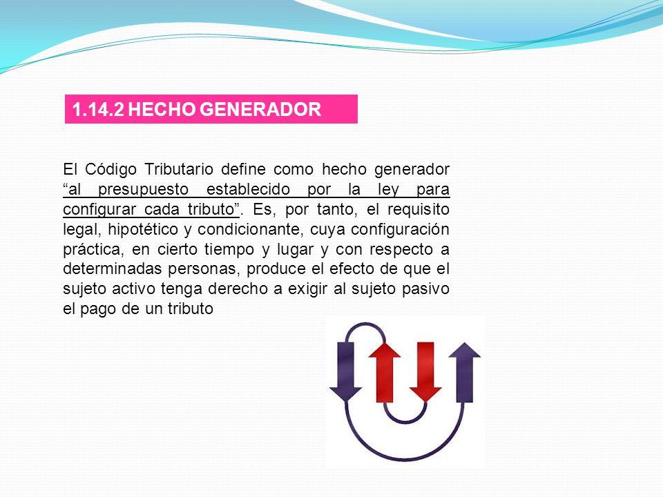 1.14.2 HECHO GENERADOR